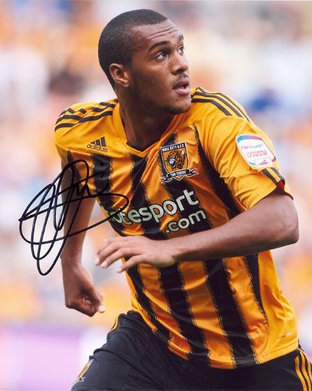 Jay Simpson, Hull City, signed 10x8 inch photo.